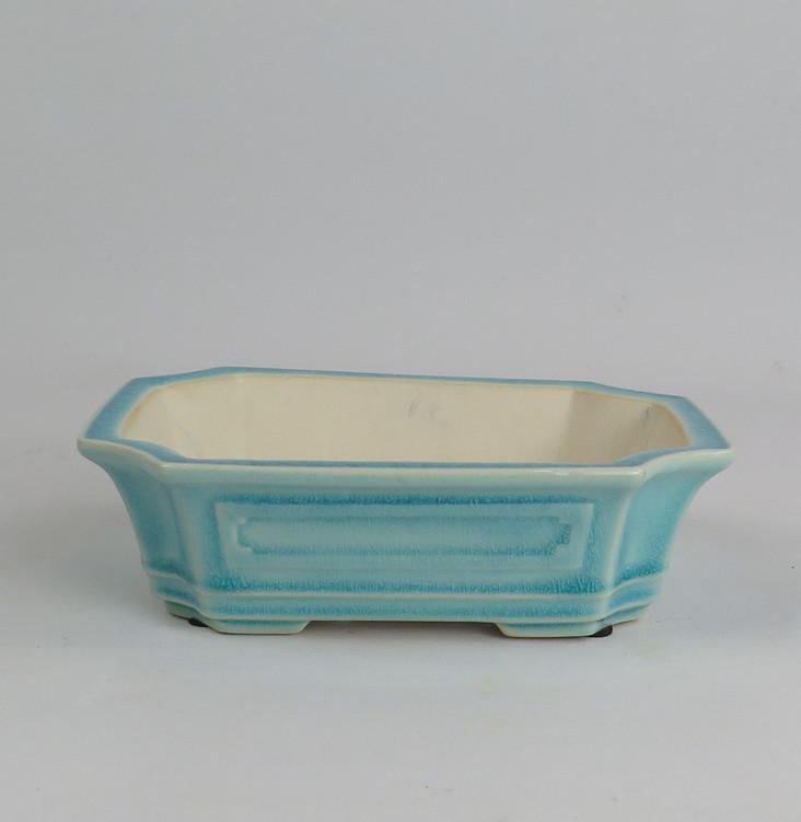 Maceta rectangular esmaltada china